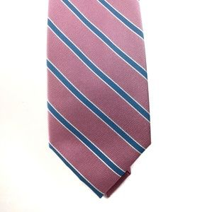 Jos. A. Banks men's silk tie in pink and blue NWT